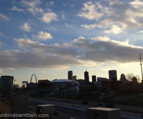 Donwtown St. Louis Skyline from Bridge On-Ramp